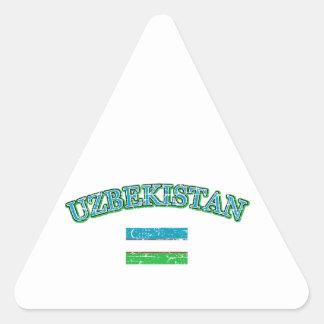 Uzbekistan football design triangle sticker