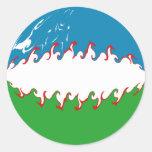 Uzbekistan Gnarly Flag Stickers