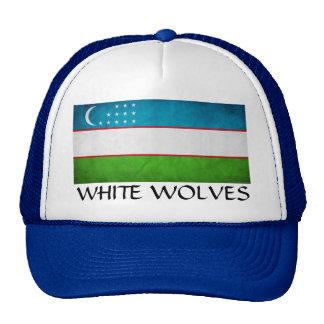 "Uzbekistán ""lobos blancos "" gorros"