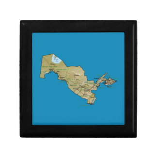Uzbekistan Map Gift Box
