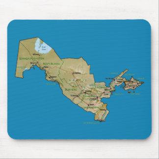Uzbekistan Map Mousepad