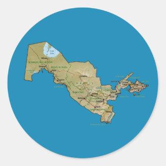 Uzbekistan Map Sticker