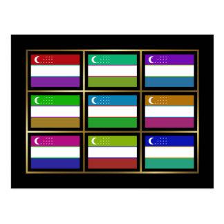 Uzbekistán Multihue señala la postal por medio de