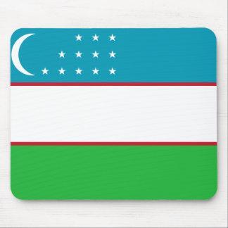 Uzbekistan National World Flag Mouse Pad