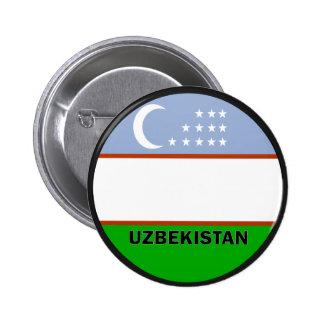 Uzbekistan Roundel quality Flag 2 Inch Round Button