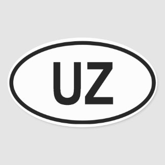 "Uzbekistan ""UZ"" Oval Sticker"