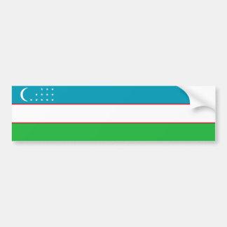 Uzbekistan/Uzbek/Uzbekistani Flag Bumper Sticker