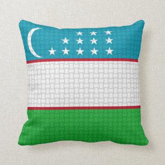 Uzbekistan Uzbekistani flag Throw Pillow