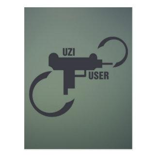 UZI 9MM. POSTCARD
