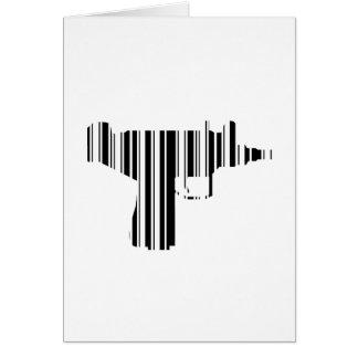 UZI BAR CODE Gun Barcode Pattern Design Card