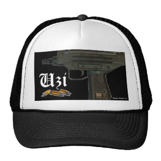 Uzi, Bullets, Uzi, Bowser Designs Inc. Trucker Hat