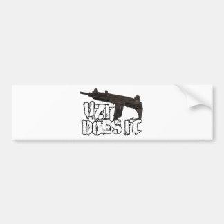 Uzi Does it Gun Shirt   Uzi T-shirt Bumper Stickers