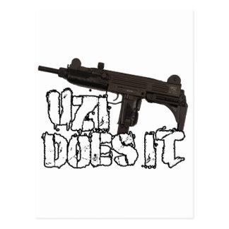 Uzi Does it Gun Shirt | Uzi T-shirt Postcard