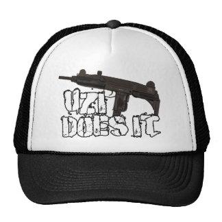 Uzi Does it Gun Shirt | Uzi T-shirt Trucker Hat