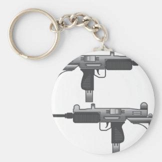 Uzi Gun vector Basic Round Button Keychain