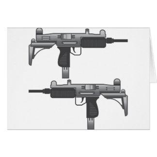 Uzi Gun vector Card