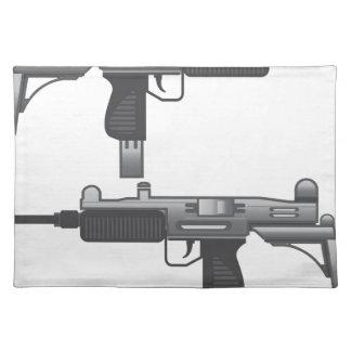 Uzi Gun vector Cloth Placemat