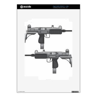 Uzi Gun vector iPad 2 Skins