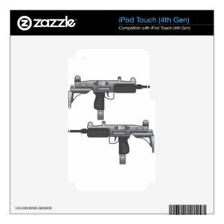 Uzi Gun vector iPod Touch 4G Decals