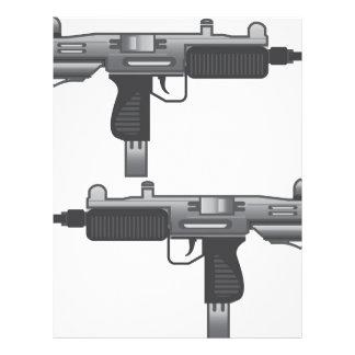 Uzi Gun vector Letterhead