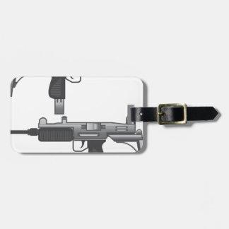 Uzi Gun vector Luggage Tag