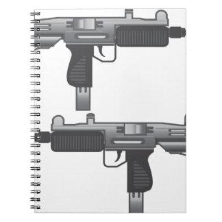 Uzi Gun vector Spiral Notebook