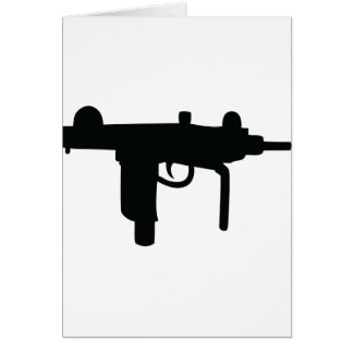 Uzi gun weapon icon card