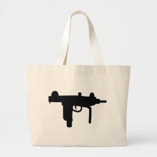Uzi gun weapon icon large tote bag