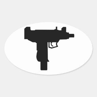 Uzi Oval Sticker