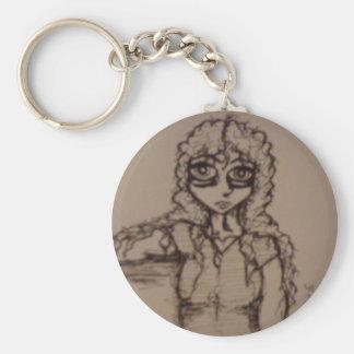 Uzi Sketch Keychain
