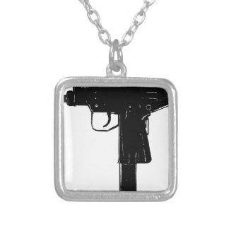 uzi square pendant necklace