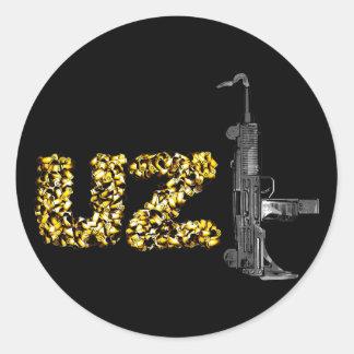 UZI ROUND STICKER