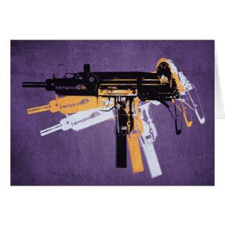 Uzi Sub Machine Gun on Purple Card