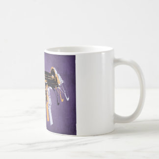Uzi Sub Machine Gun on Purple Coffee Mug