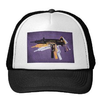 Uzi Sub Machine Gun on Purple Trucker Hat