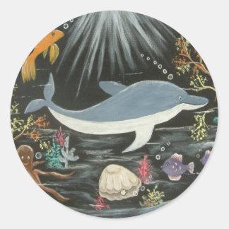 Uzi the Dolphin Sticker