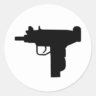 Uzi - Weapon Round Sticker