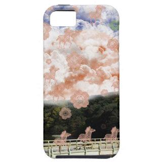 Uzibasi and cherry tree and stripe stripe iPhone 5 cover