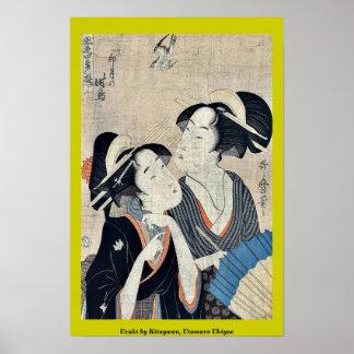 Uzuki by Kitagawa, Utamaro Ukiyoe Posters