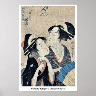 Uzuki by Kitagawa, Utamaro Ukiyoe Poster