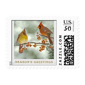 V003A_christmas_cardinals_stamps.tif_Zazzle Postage