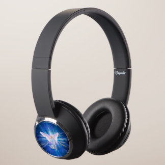 V009-Angel 5 Blue Headphones