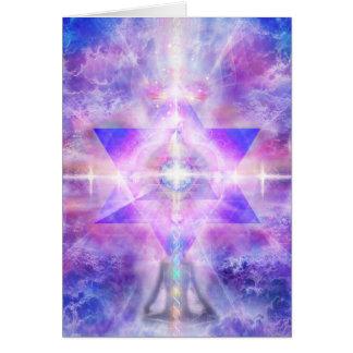 """V054 """"Merkaba Meditator"""" Card"""