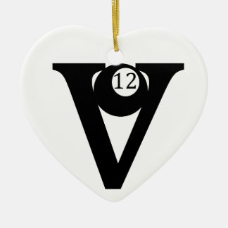 V12 Racing Ceramic Ornament