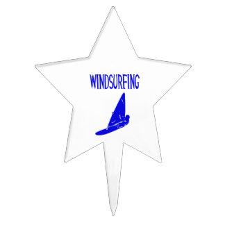 v1 texto azul windsurfing sport.png decoración de tarta