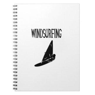 v1 texto negro windsurfing sport.png libro de apuntes con espiral