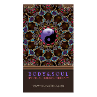 V2: Alternative Eastern YinYang New Age Double-Sided Standard Business Cards (Pack Of 100)