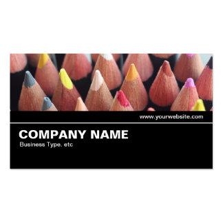 V2 intermedio 08 - lápices del color tarjetas de visita