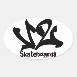 V2 Skateboard Sticker