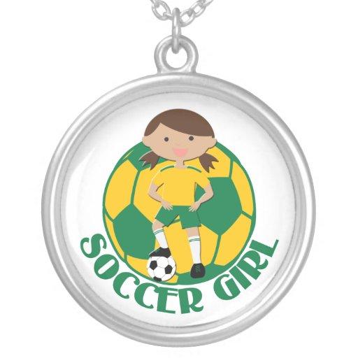 V2 verde y amarillo del chica 4 y del balón de fút joyería